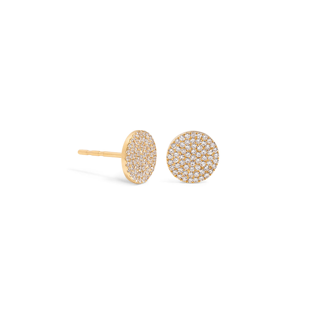 Large Diamond Pave Disc Stud