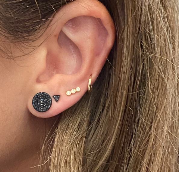Black Diamond Disc Studs