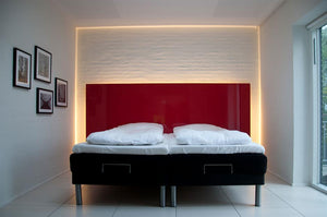 Dimmable Multi color light strips to set the vibe in your bedroom