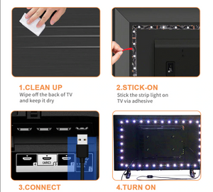 Popspace Vibe Light Strips w/remote, 3 length options, Set any vibe you want!