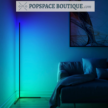 Load image into Gallery viewer, Illumen Space Modern RGB LED Corner Floor Lamp w/Remote