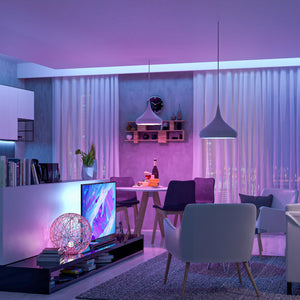 Popspace Vibe Light strips perfectly set any vibe in your living room. From an elegant soft dimmable white light to multi color options to set any vibe or kick off any party. Get your Popspace multicolor light strips today!