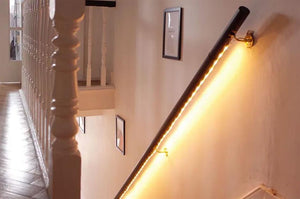 Multi color light strips with remote to light your staircase