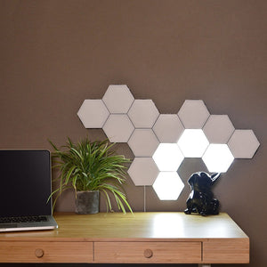 Hexagonal LED Wall Light, Modular Touch Sensor Lights