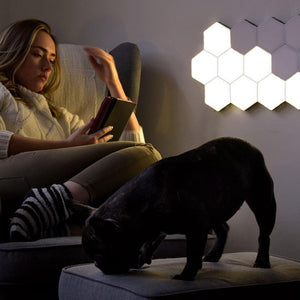 Honeycomb Decorative Wall Lights, Hexagonal Touch Sensor Lamps