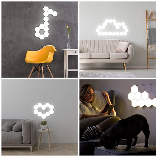 Bright Soft Honeycomb Modular Light Modules, Sets of 3 or 6
