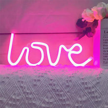 Load image into Gallery viewer, Love Neon Sign LED Table Wall Light Lamp