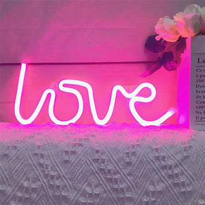Love Neon Sign LED Table Wall Light Lamp