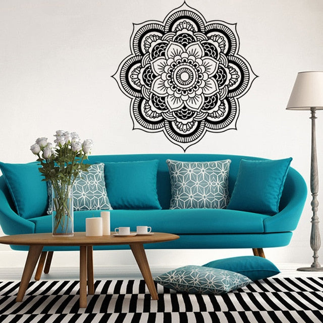 Mandala Flower Wall Mural Decal