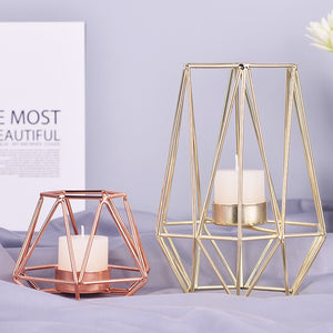 Stunning Wrought Iron Geometric Candle Holder