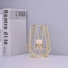 Load image into Gallery viewer, Artistic Gold Iron Geometric Candle Holder, Minimalist Style
