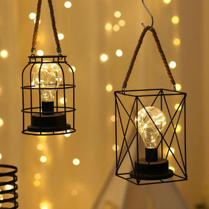 Superb Retro Iron LED Lamp Lanterns