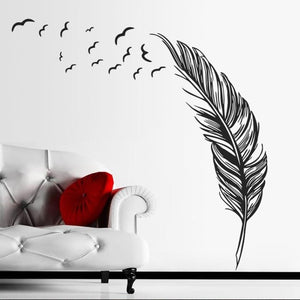 Feather & Birds Wall Mural Decal