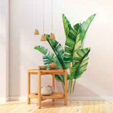 Load image into Gallery viewer, Green Tropical Leaves Wall Decal Nature Palm Tree Leaf Plants Wall Sticker Art Murals for Bedroom Living Room Classroom Offices Home Decoration