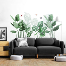 Load image into Gallery viewer, Palm Leaves Wall Sticker, Tropical DIY Wall Decals , Removable Self-Adhesive Wall Mural , Waterproof Art Decal