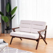 Load image into Gallery viewer, Sturdy Solid Wood Modern Fabric Loveseat Armchair Furniture for Living Room, Affordable Accent Furniture for Indoor Decor
