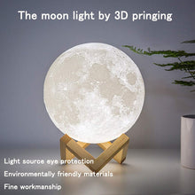 Load image into Gallery viewer, 3D Moon Lamp with Cosmic details