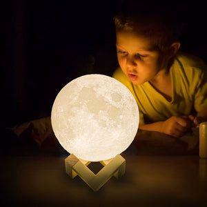 3D LED Moon Lamp for Home & Office Decor