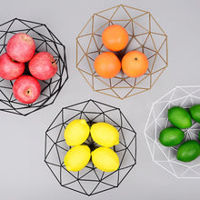 Load image into Gallery viewer, Geometric Wire Fruit Display Bowl, 3 color options