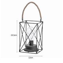 Load image into Gallery viewer, Vintage Lantern Lamp with White Light for Garden, Patio, Porch