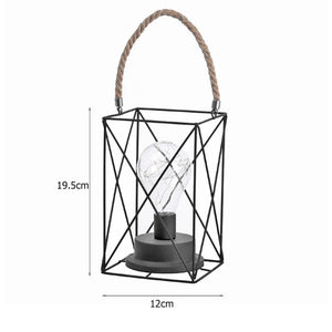 Vintage Lantern Lamp with White Light for Garden, Patio, Porch