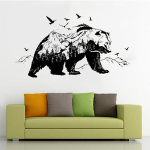 Black Bear Peel & Stick Wall Decal, Large Size, Easy to Apply & Remove
