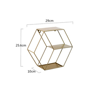 Geometric Floating Flower Cubby or Shelve