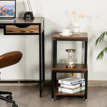 Load image into Gallery viewer, Durable Rustic Retro Athena 3 tier end table