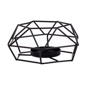 Iron 3D Geometric Candle Holders Nordic Style Wrought Rack Candleholder