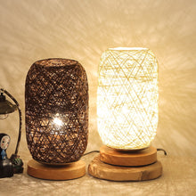 Load image into Gallery viewer, Bedside Table Lamp Rattan Ball Style USB Night Light