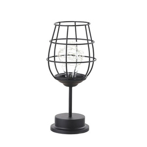 wine glass iron made table lamp
