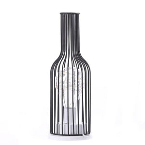 Wine bottle iron table lamp