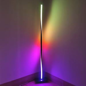 Slender, Portable Multicolor RGB LED Floor Lamp