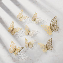 Load image into Gallery viewer, 3D 12Pcs PVC 3D Butterfly Wall Decor Cute Butterflies Wall Stickers Art Decals Home Decoration