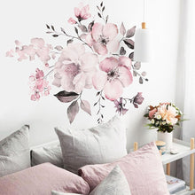 Load image into Gallery viewer, Pink Peony Flower Wall Sticker Relaxing Living Room Art