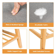Load image into Gallery viewer, Solid Bamboo Bench & Shoe Rack w/ Thick Seat & Stable Support Legs