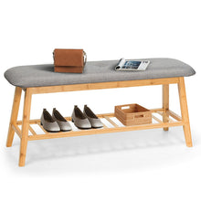 Load image into Gallery viewer, Affordable Accent Furniture, Interior Design & Storage Ideas, Bamboo Bench & Shoe Rack Combo