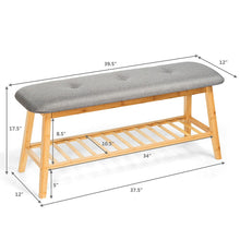Load image into Gallery viewer, Light Color Wood Bamboo Bench & Shoe Rack Furniture for Home & Office