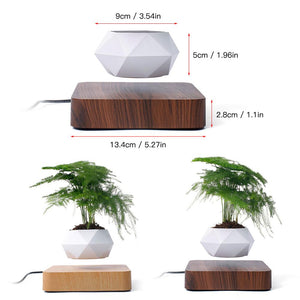 Levitating Air Bonsai Pot Rotation Flower Pot Planters Magnetic Levitation Suspension Floating Pot