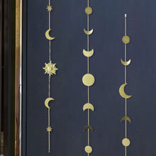 Load image into Gallery viewer, Celestial Gold Moon Star Sun Wall Decor