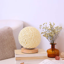 Load image into Gallery viewer, Bedside Hand Woven Rattan Moon Lamp
