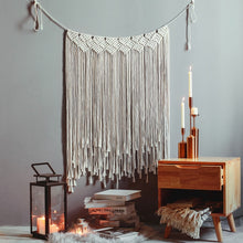Load image into Gallery viewer, Boho Chic Macrame Wall Hanging Decoration, Hand Woven Tapestry