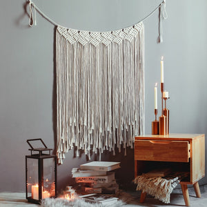 Boho Chic Macrame Wall Hanging Decoration, Hand Woven Tapestry