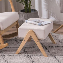 Load image into Gallery viewer, Sofia Footrest stool w/ Oak Frame & Cotton Cushions