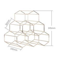 Load image into Gallery viewer, Stackable Hexagonal Honeycomb Wine Rack for Tabletop, Countertop, Kitchen Storage