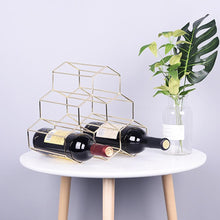 Load image into Gallery viewer, 6 Bottle Rack for Precious Wine Collection, Easy to Stack Hexagonal Geometric Holder