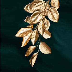 Beautiful Wall Decor Decal Golde Leaf Canvas Painting, Easy to Apply & Remove