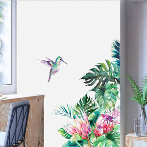 Easy to Peel & Stick Tropical Vibe Wall Mural Decal Sticker