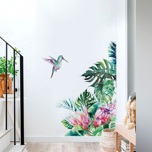 Glowing Tropical Vibe Wall Mural Decal Door Sticker