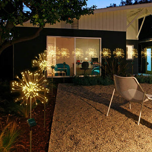 Solar Firework Lights for Indoor & Outdoor Decor